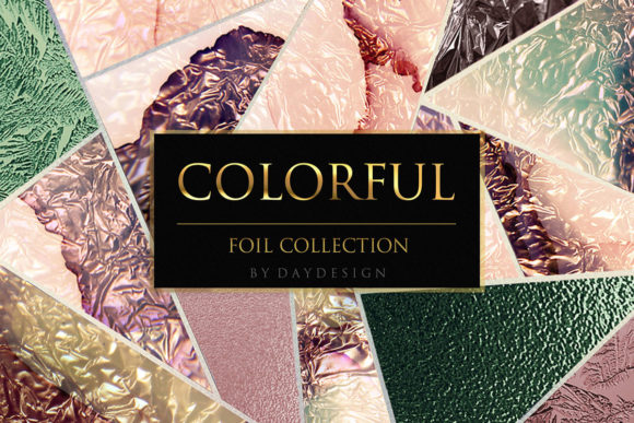 Colorful Pink Foil Textures Graphic Backgrounds By DAYDESIGN