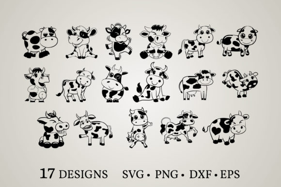 Cow Bundle Graphic