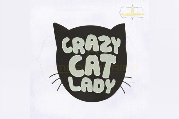 Crazy Cat Lady Cats Embroidery Design By RoyalEmbroideries