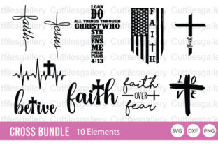 Cross Religious Bundle   Graphic Crafts By cutfilesgallery