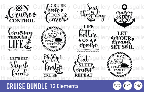 Download Free Cruise Family Trip Bundle Graphic By Cutfilesgallery Creative SVG Cut Files