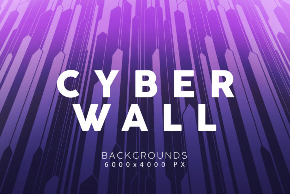 Print on Demand: Cyber Wall Backgrounds 3 Graphic Backgrounds By ArtistMef