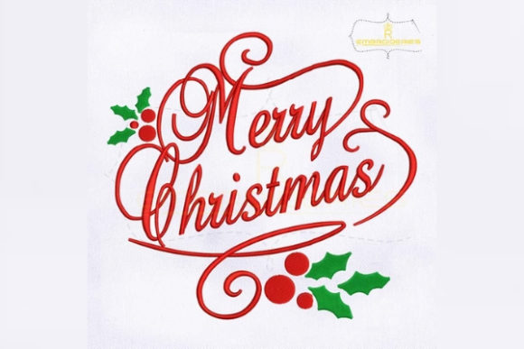 Decorative Merry Christmas Christmas Embroidery Design By RoyalEmbroideries