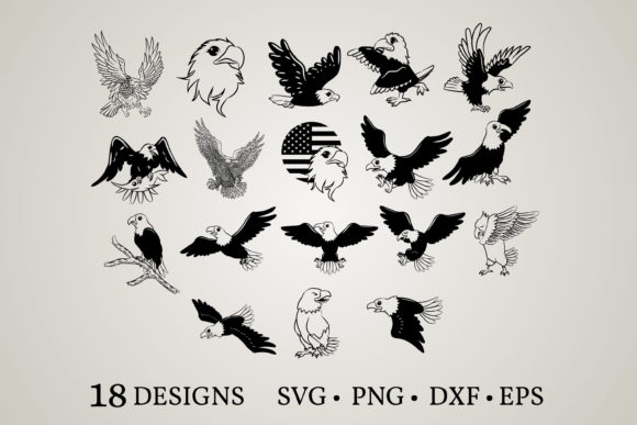 Download Free Eagle Face Bundle Graphic By Euphoria Design Creative Fabrica for Cricut Explore, Silhouette and other cutting machines.