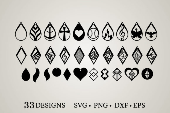 Earring Bundle Graphic Print Templates By Euphoria Design