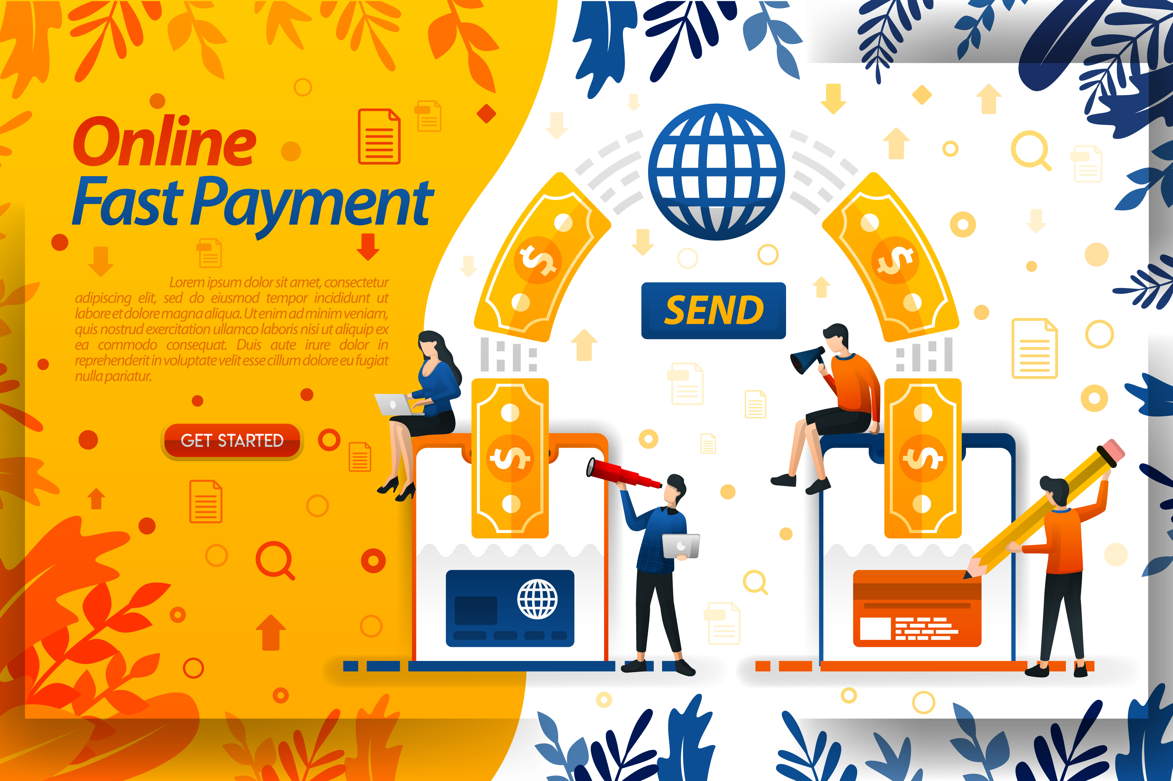 Download Free Fastest Money Payment And Transfer Graphic By Setiawanarief111 for Cricut Explore, Silhouette and other cutting machines.