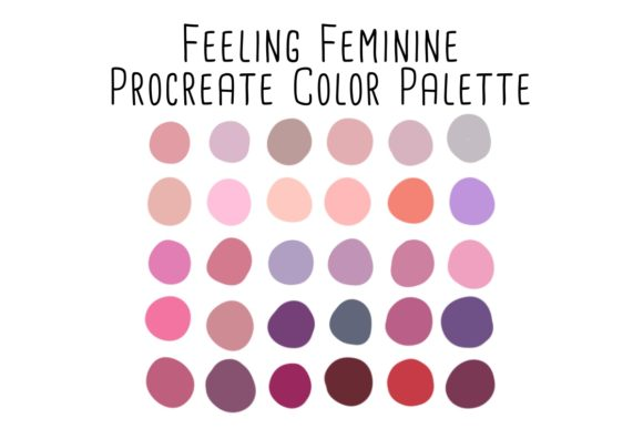 Print on Demand: Feeling Feminine Procreate Color Palette Graphic Add-ons By RoughDraftDesign