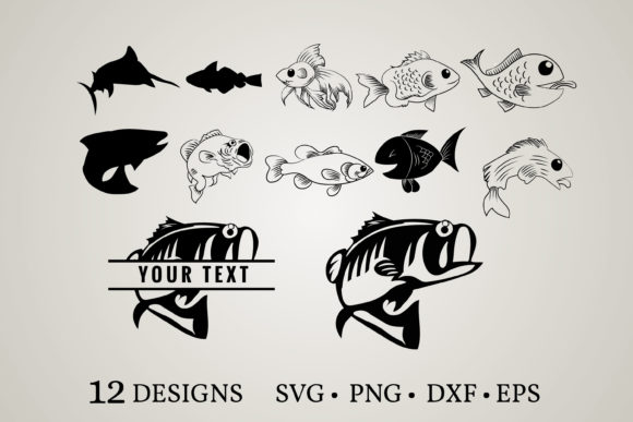 Download Free Fish Bundle Graphic By Euphoria Design Creative Fabrica for Cricut Explore, Silhouette and other cutting machines.