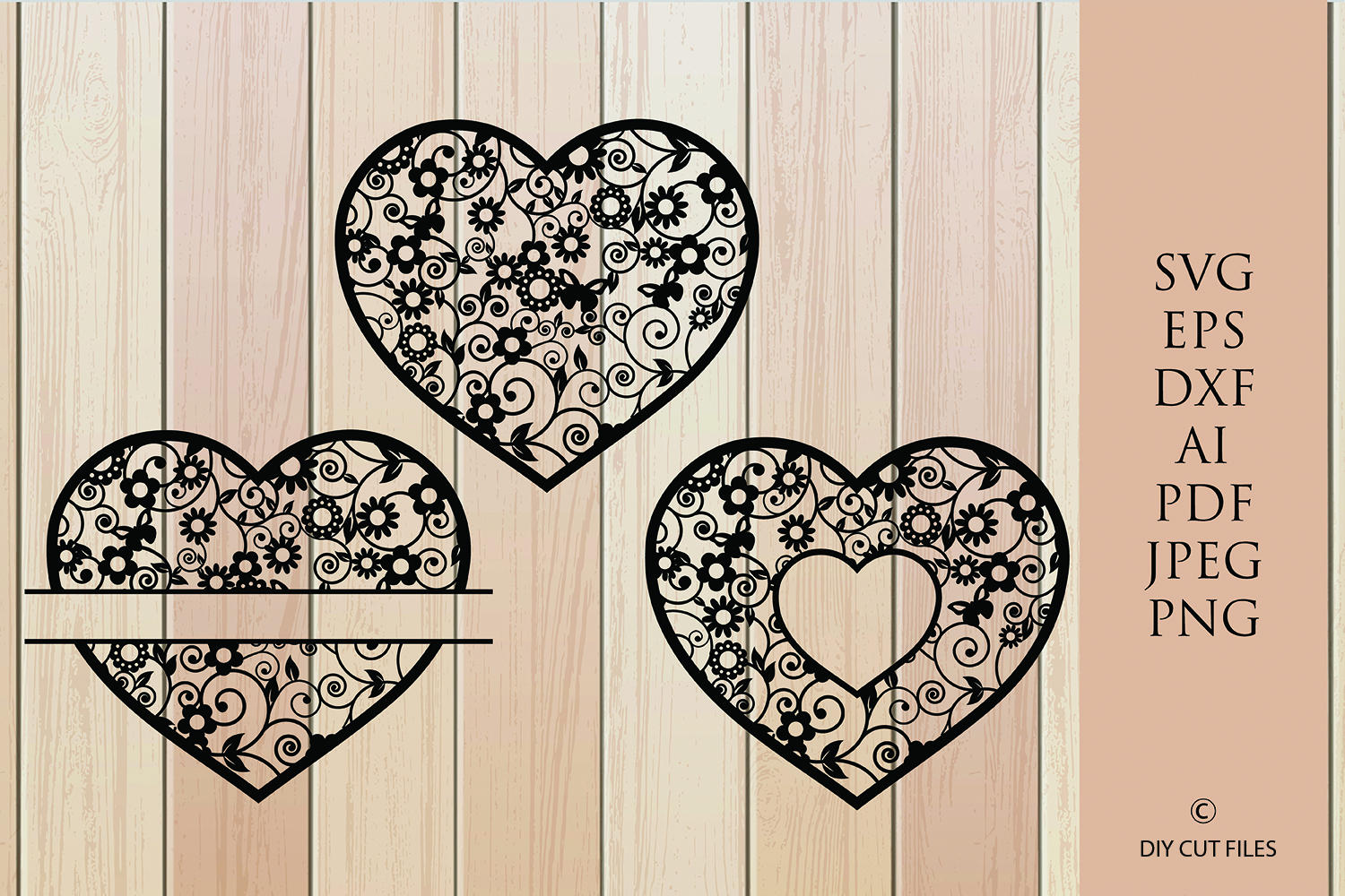 Download Free Floral Heart Frame Paper Cut Template Graphic By Diycuttingfiles SVG Cut Files