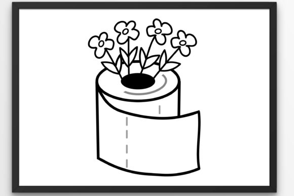Print on Demand: Flowers Toilet Paper  Graphic Crafts By Tanja Dianova