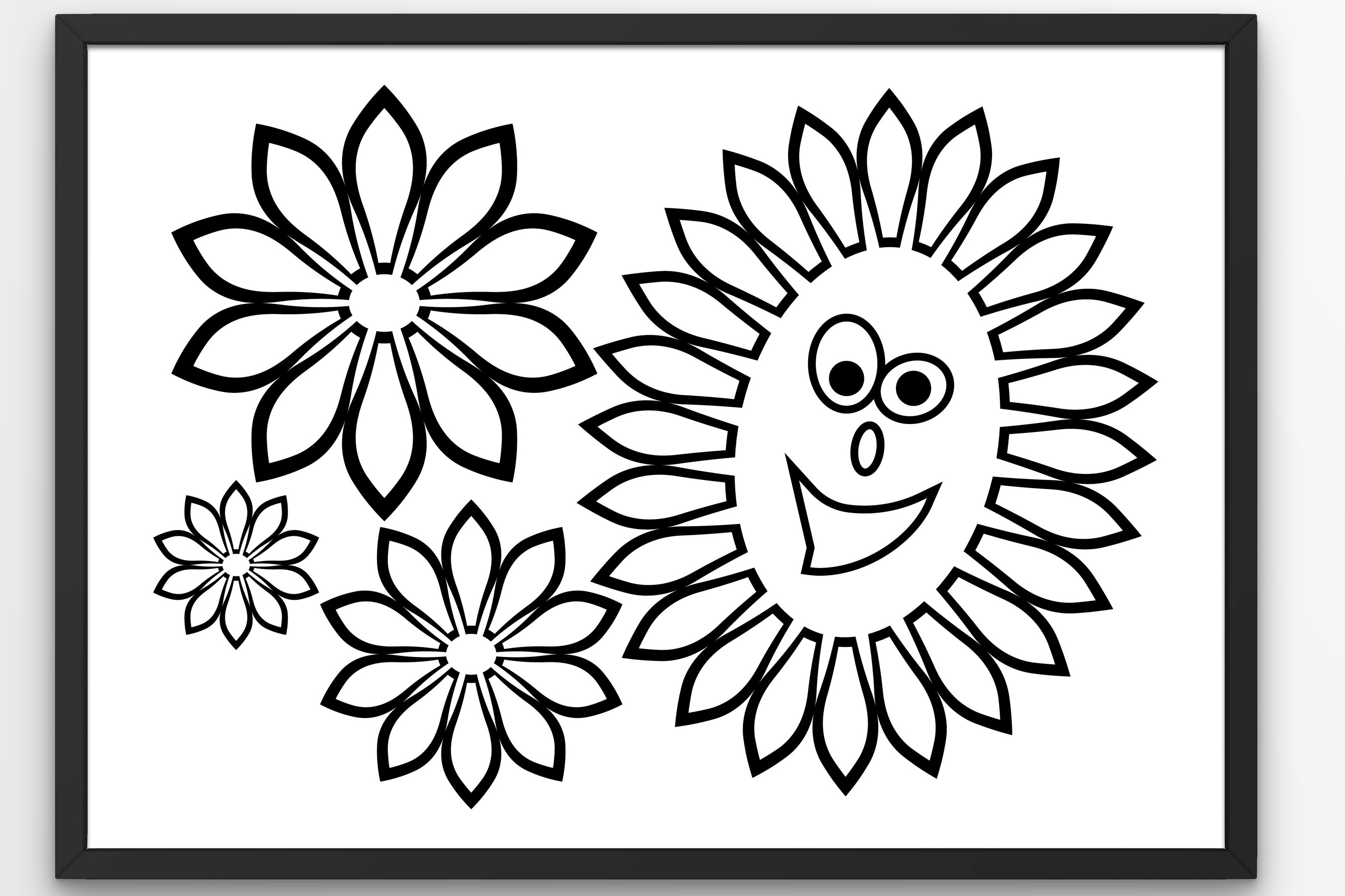 Download Free Flowers Funny Sunflower Graphic By Tanja Dianova Creative Fabrica for Cricut Explore, Silhouette and other cutting machines.