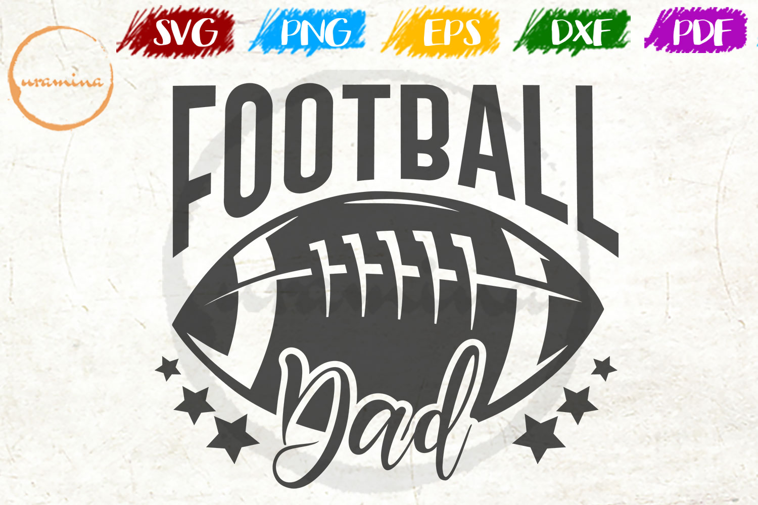 Download Free Football Dad Graphic By Uramina Creative Fabrica for Cricut Explore, Silhouette and other cutting machines.