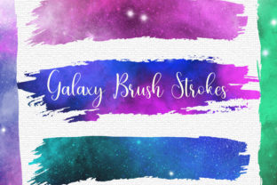 Print on Demand: Galaxy Space Brush Strokes Clip Art Graphic Backgrounds By PinkPearly