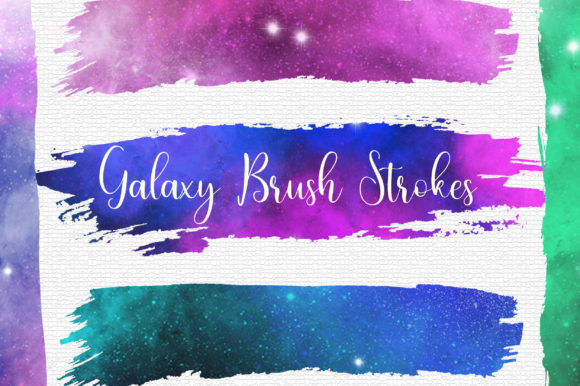 Galaxy Space Brush Strokes Clip Art Graphic Backgrounds By PinkPearly
