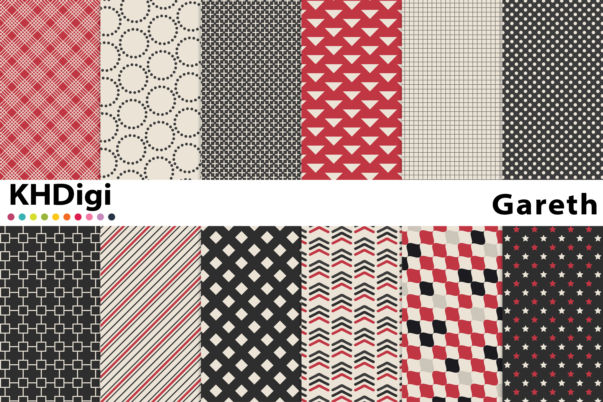Download Free Gareth Digital Paper Graphic By Khdigi Creative Fabrica for Cricut Explore, Silhouette and other cutting machines.