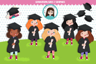 Download Free Graduation Girls Cliparts Graphic By Cutelittleclipart for Cricut Explore, Silhouette and other cutting machines.