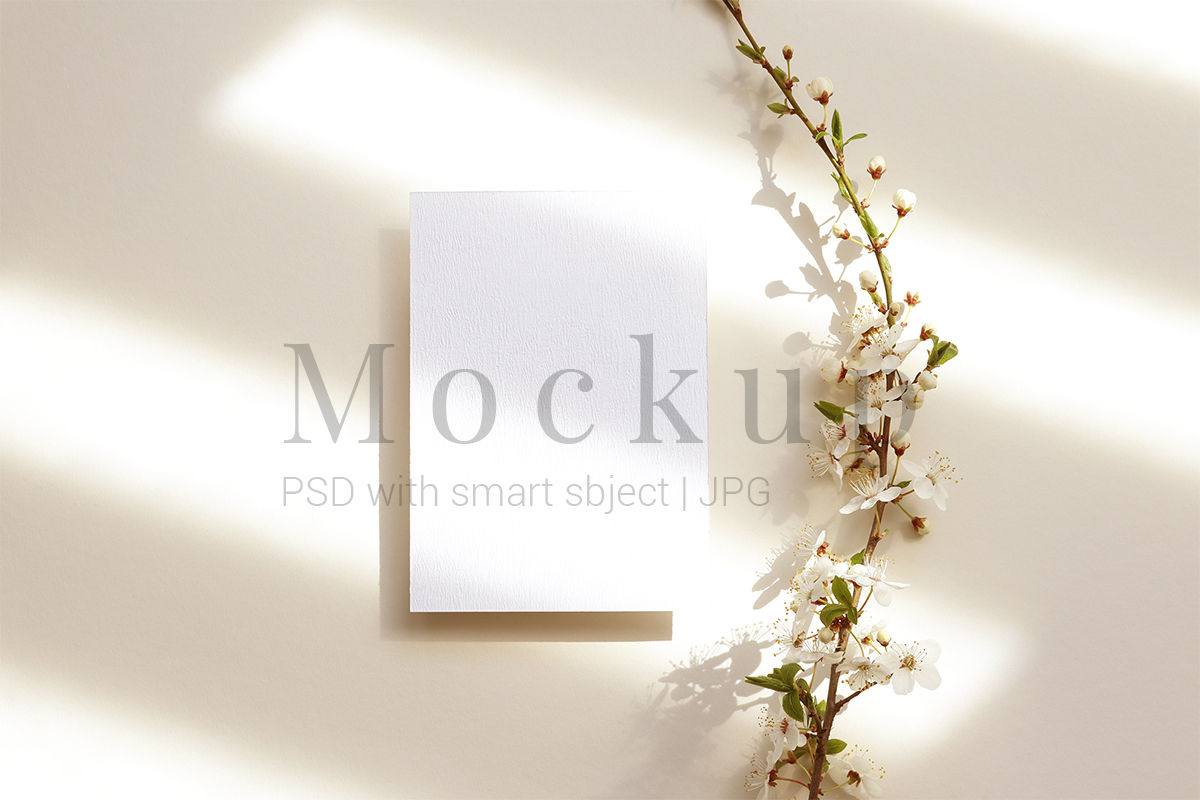 Download Free Greeting Card Wedding Card Mockup Graphic By Pawmockup for Cricut Explore, Silhouette and other cutting machines.