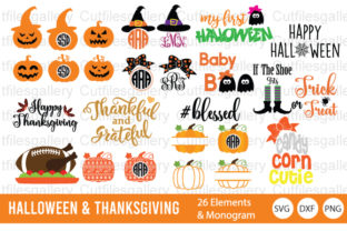 Download Free Halloween Thanksgiving Graphic By Cutfilesgallery Creative for Cricut Explore, Silhouette and other cutting machines.