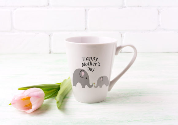 Download Free Happy Mother S Day Elephants Graphic By Capeairforce Creative for Cricut Explore, Silhouette and other cutting machines.