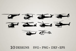 Helicopter Bundle Graphic Crafts By Euphoria Design