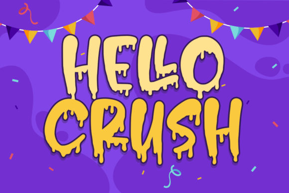 Print on Demand: Hello Crush Display Font By Typefar