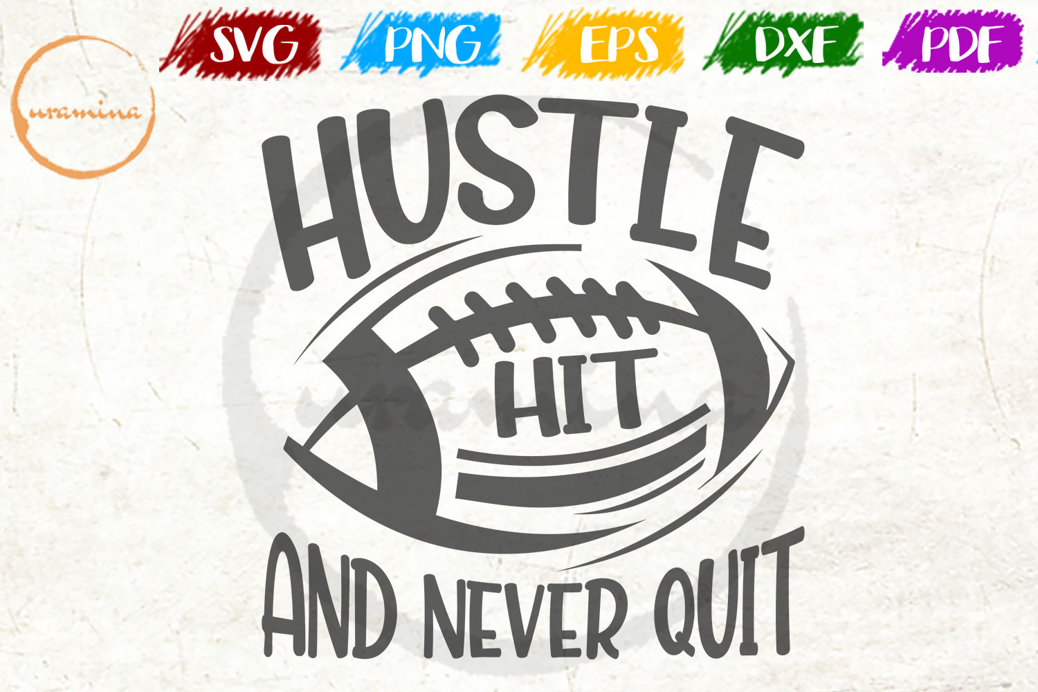 Download Free Hustle Hit And Never Quit Graphic By Uramina Creative Fabrica for Cricut Explore, Silhouette and other cutting machines.