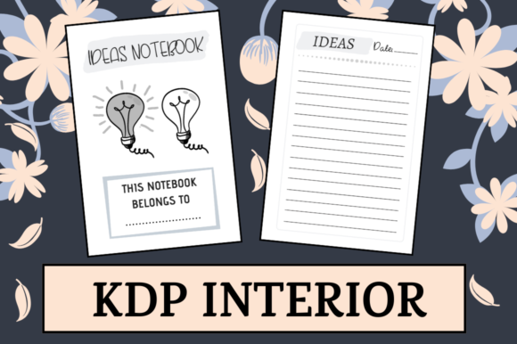 Download Free Ideas Notebook Kdp Interior Graphic By Hungry Puppy Studio for Cricut Explore, Silhouette and other cutting machines.