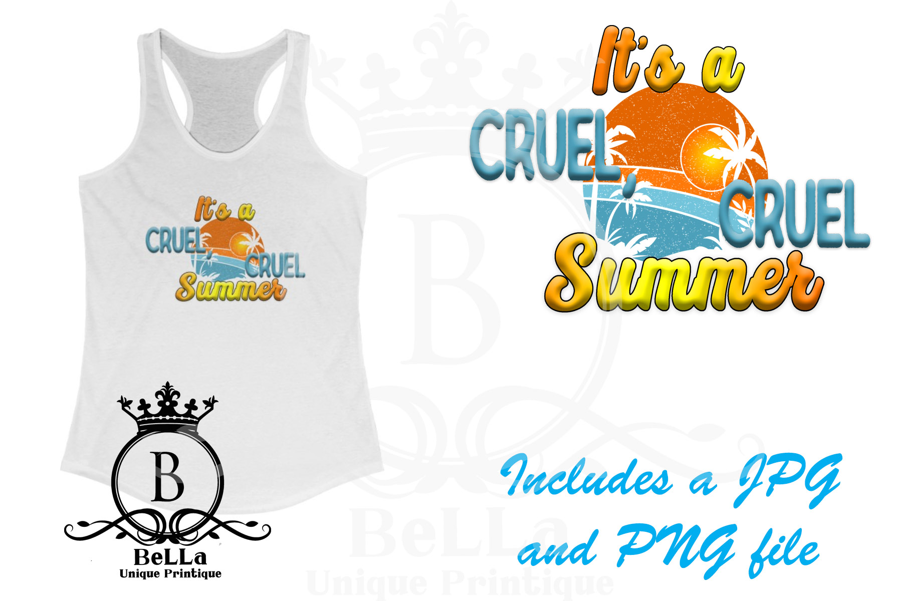 Download Free It S A Cruel Cruel Summer Graphic Graphic By for Cricut Explore, Silhouette and other cutting machines.