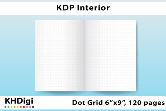 Print on Demand: KDP Dot Journal, Bleed, Page Numbers Graphic KDP Interiors By KHDigi
