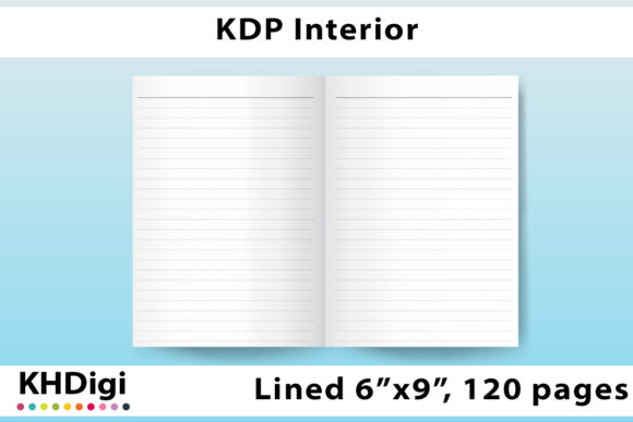 Print on Demand: KDP Interior, Lined, 120 Pages Graphic KDP Interiors By KHDigi