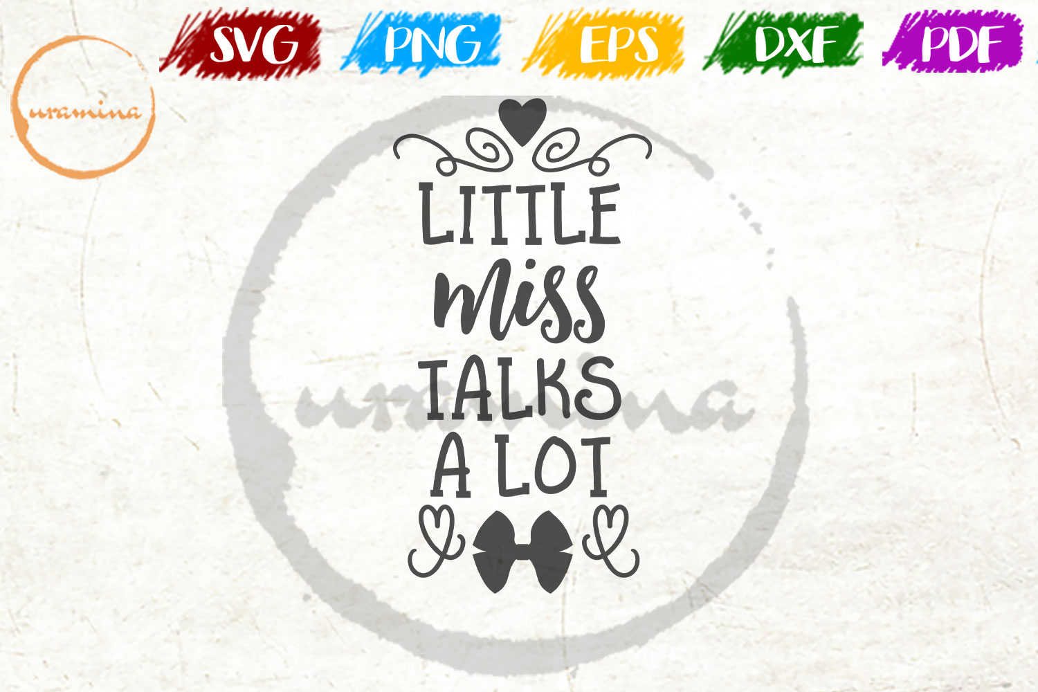 Download Free Little Miss Talks A Lot Graphic By Uramina Creative Fabrica for Cricut Explore, Silhouette and other cutting machines.