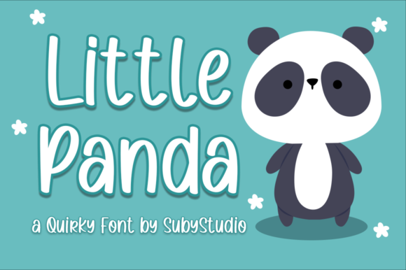 Print on Demand: Little Panda Sans Serif Schriftarten von Suby Store