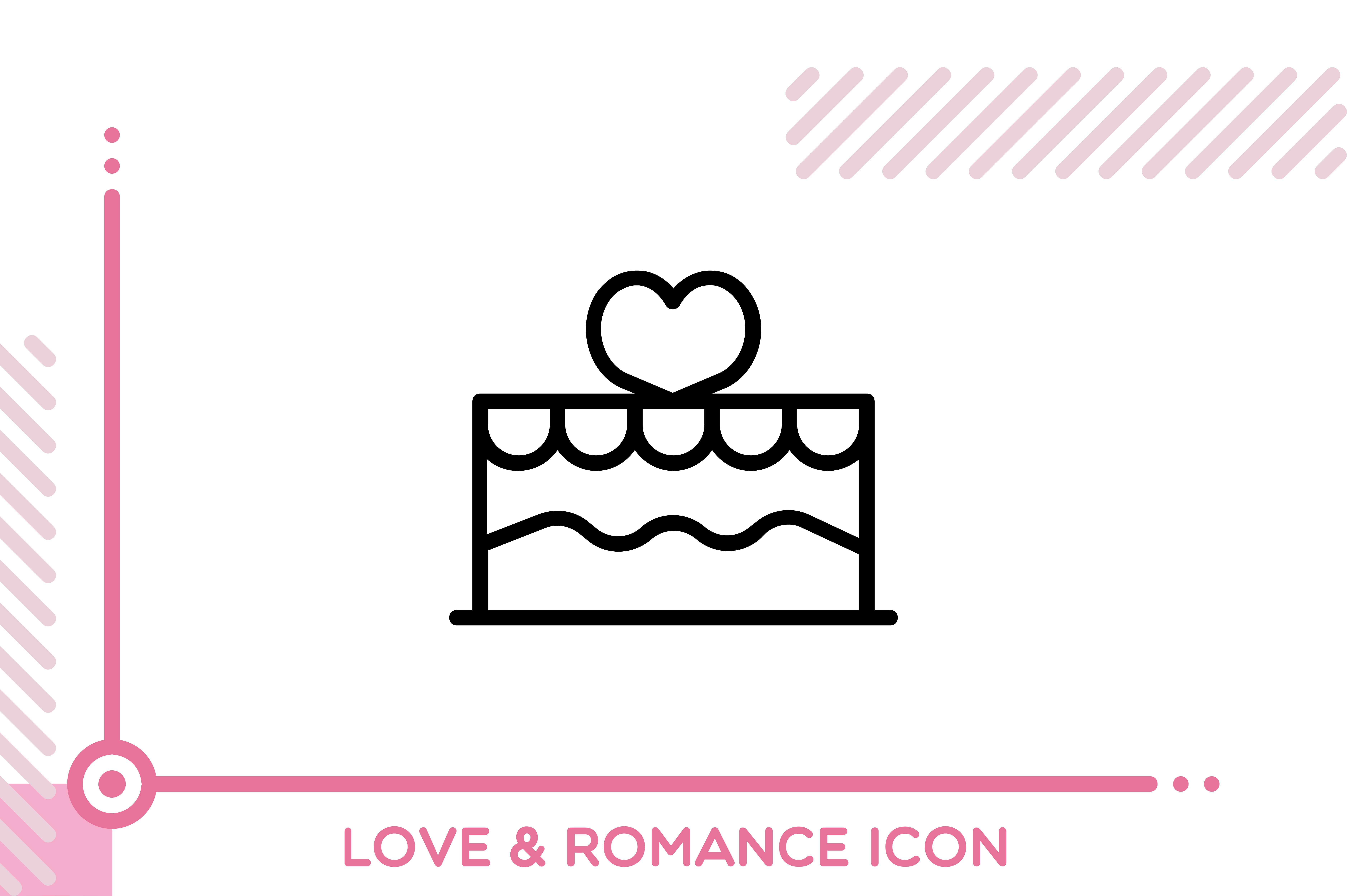 Download Free Love And Romance Cake Graphic By Freddyadho Creative Fabrica for Cricut Explore, Silhouette and other cutting machines.