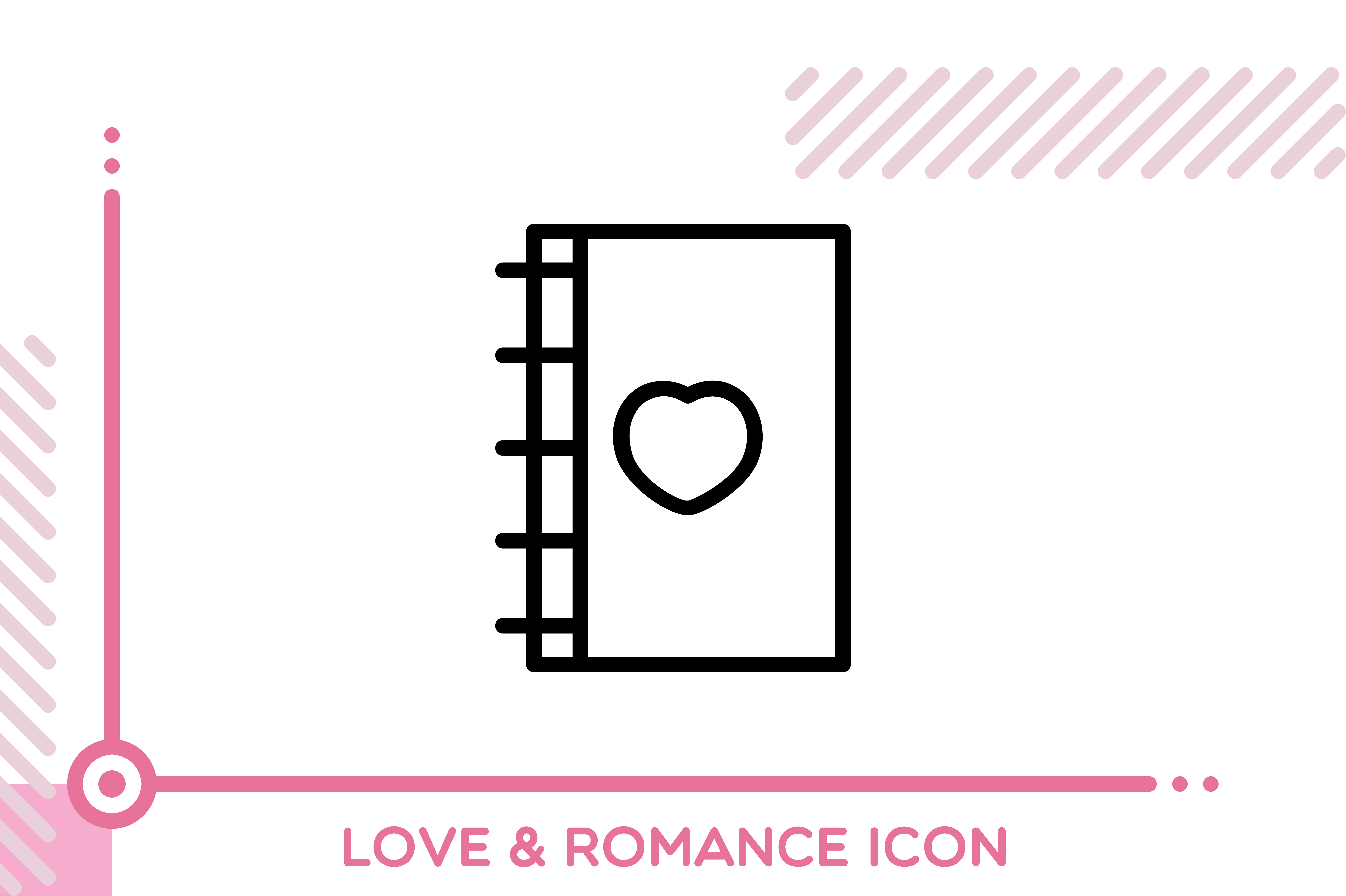 Download Free Love And Romance Journal Graphic By Freddyadho Creative Fabrica for Cricut Explore, Silhouette and other cutting machines.