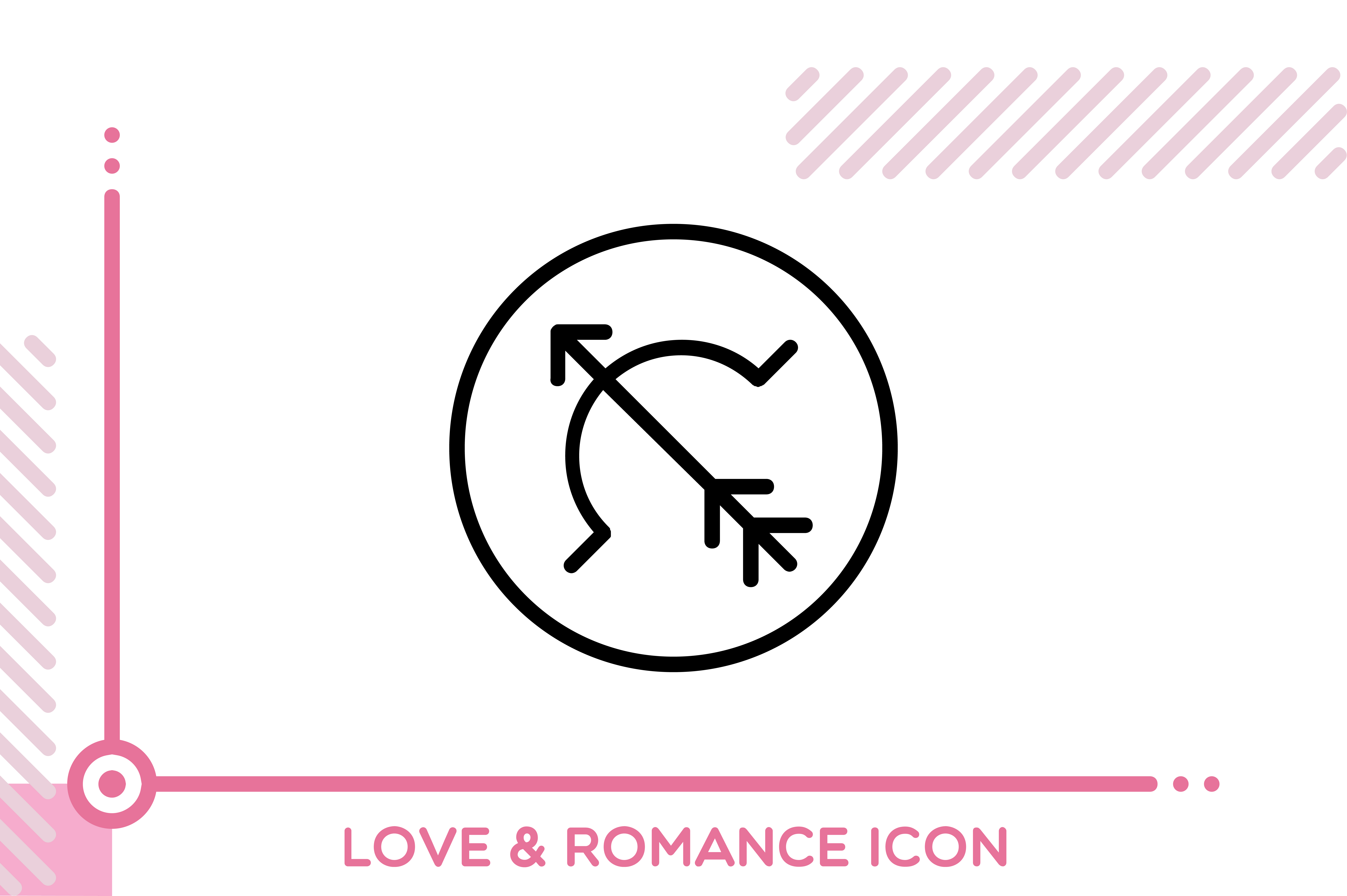 Download Free Love And Romance Arrow Graphic By Freddyadho Creative Fabrica for Cricut Explore, Silhouette and other cutting machines.