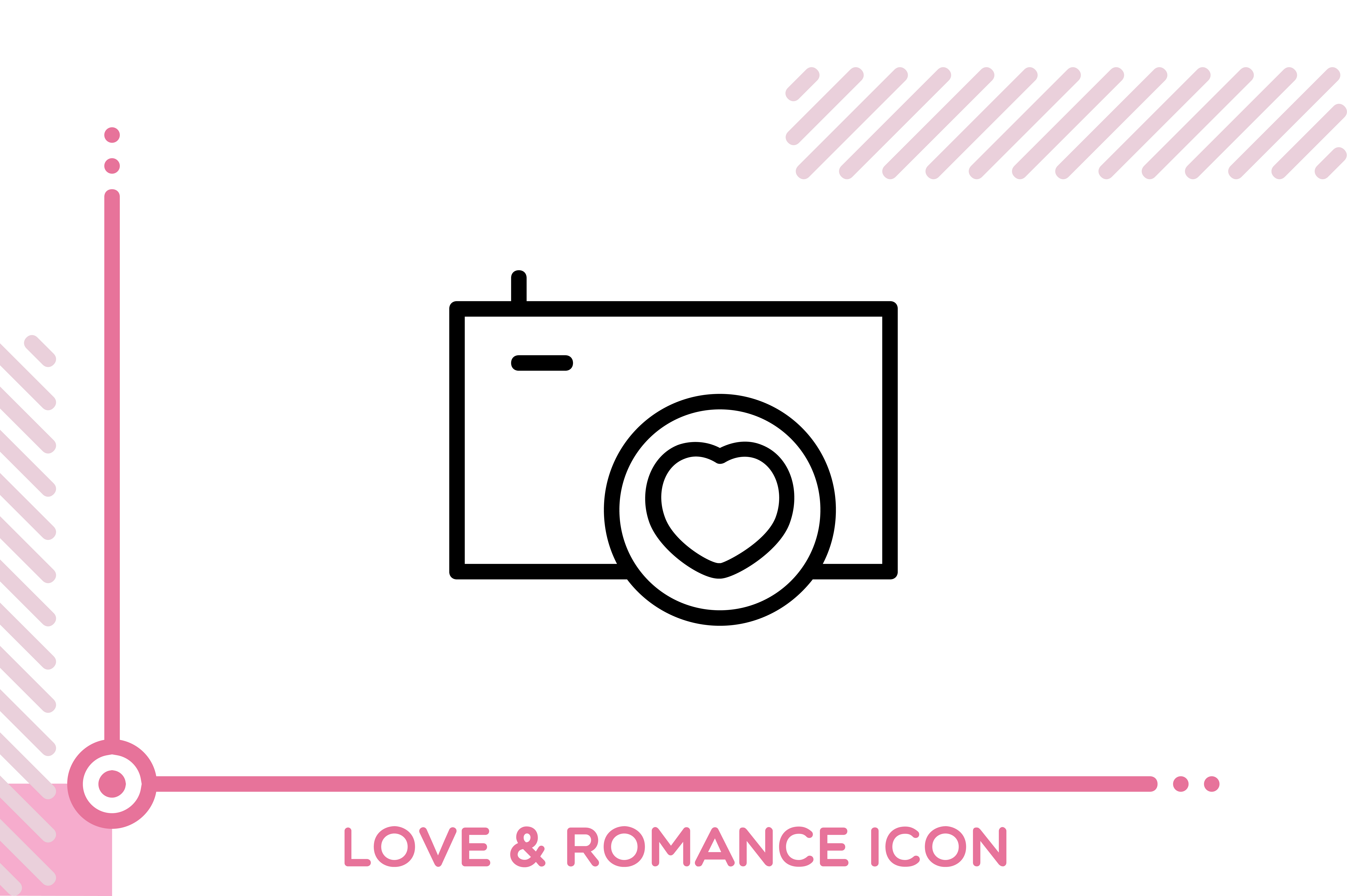 Download Free Love And Romance Camera Graphic By Freddyadho Creative Fabrica for Cricut Explore, Silhouette and other cutting machines.