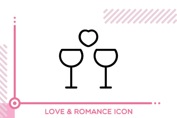 Download Free Love And Romance Drinks Graphic By Freddyadho Creative Fabrica for Cricut Explore, Silhouette and other cutting machines.