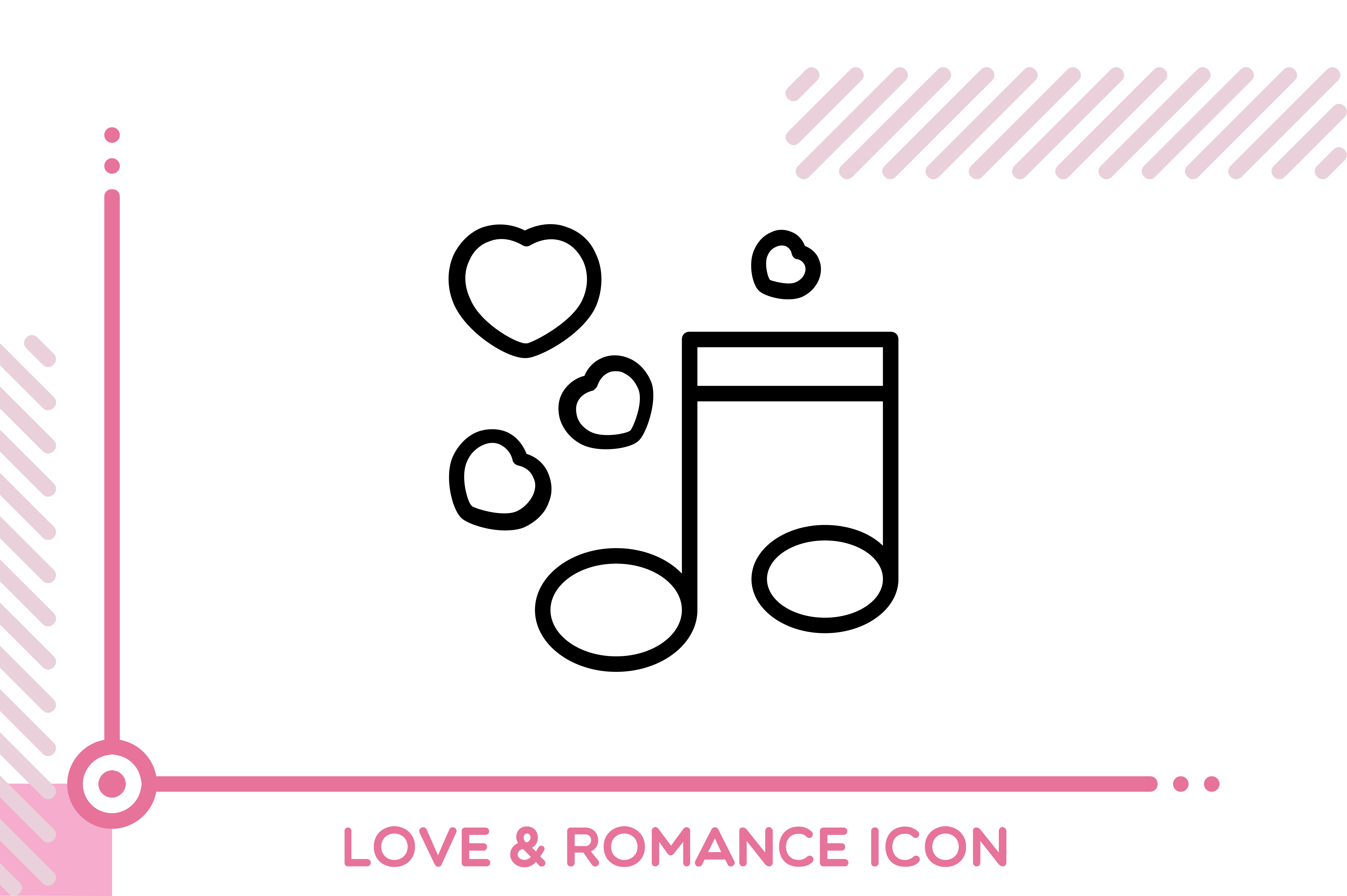 Download Free Love And Romance Musical Note Graphic By Freddyadho Creative for Cricut Explore, Silhouette and other cutting machines.