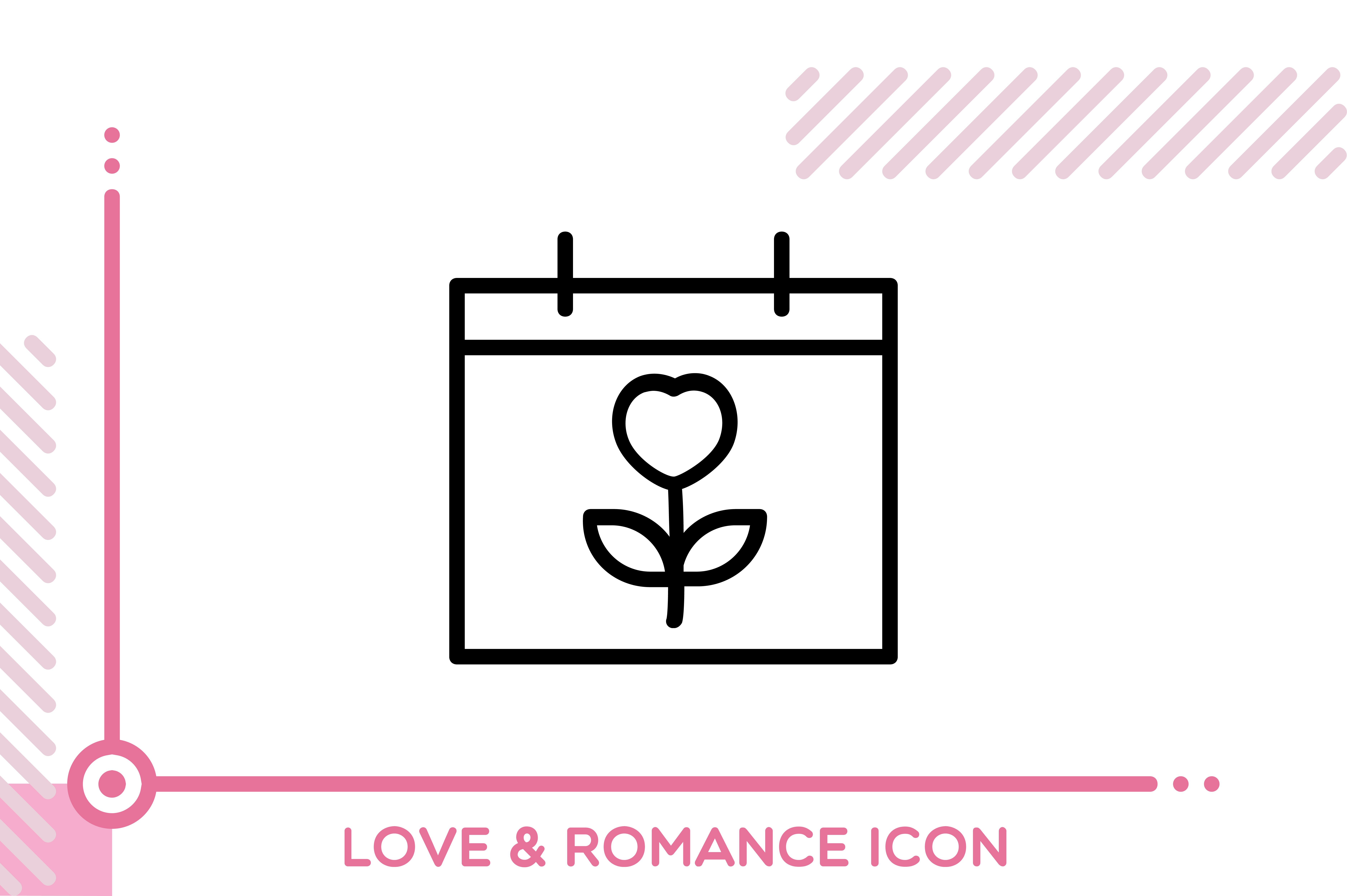 Download Free Love And Romance Flower Note Graphic By Freddyadho Creative for Cricut Explore, Silhouette and other cutting machines.