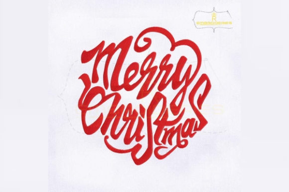 Merry Christmas Christmas Embroidery Design By RoyalEmbroideries