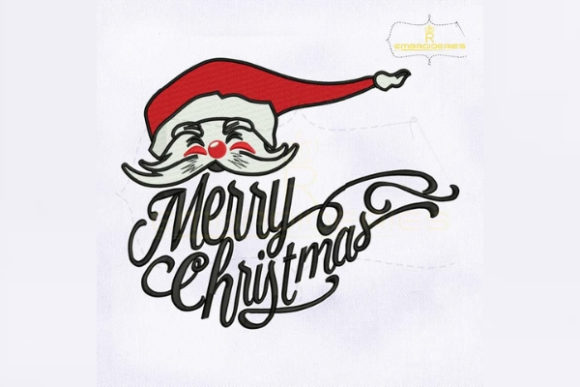 Merry Christmas Santa Claus Christmas Embroidery Design By royalembroideries