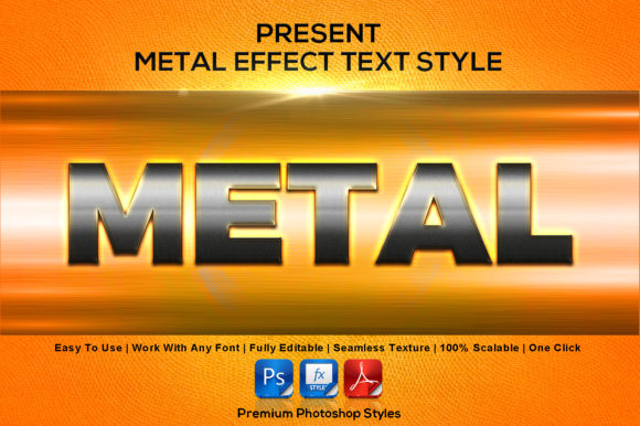 Download Free Metal Text Effect Style Graphic By Mualanadesign Creative Fabrica for Cricut Explore, Silhouette and other cutting machines.