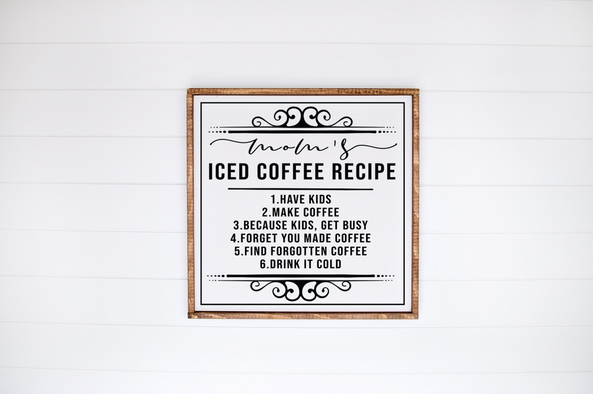 Download Free Mom S Iced Coffee Recipe Graphic By Simply Cut Co Creative Fabrica for Cricut Explore, Silhouette and other cutting machines.