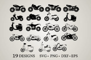 Motorcycle Bundle Graphic Crafts By Euphoria Design
