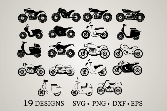 Motorcycle Bundle Graphic Print Templates By Euphoria Design