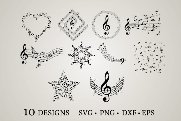 Download Free Music Note Graphic By Euphoria Design Creative Fabrica for Cricut Explore, Silhouette and other cutting machines.