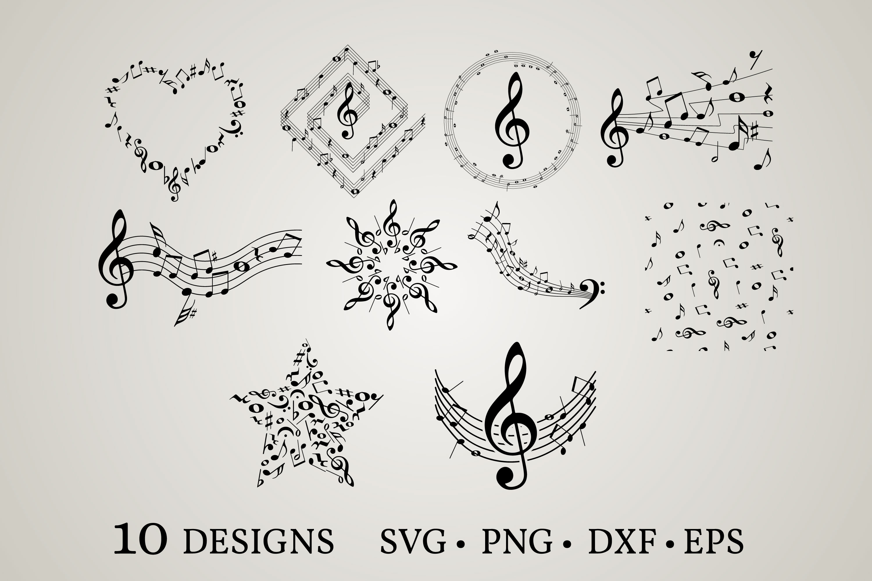 Music Note SVG File