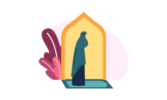 Muslim Woman Practicing Shalat Graphic By 2qnah Creative Fabrica