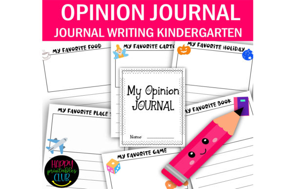 Print on Demand: My Opinion Journal for Kindergarten Graphic K By Happy Printables Club