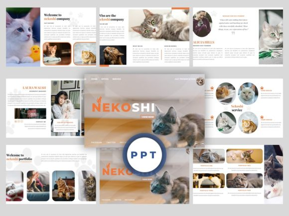 Nekoshi – Pet Business PowerPoint Graphic Presentation Templates By Yumnacreative
